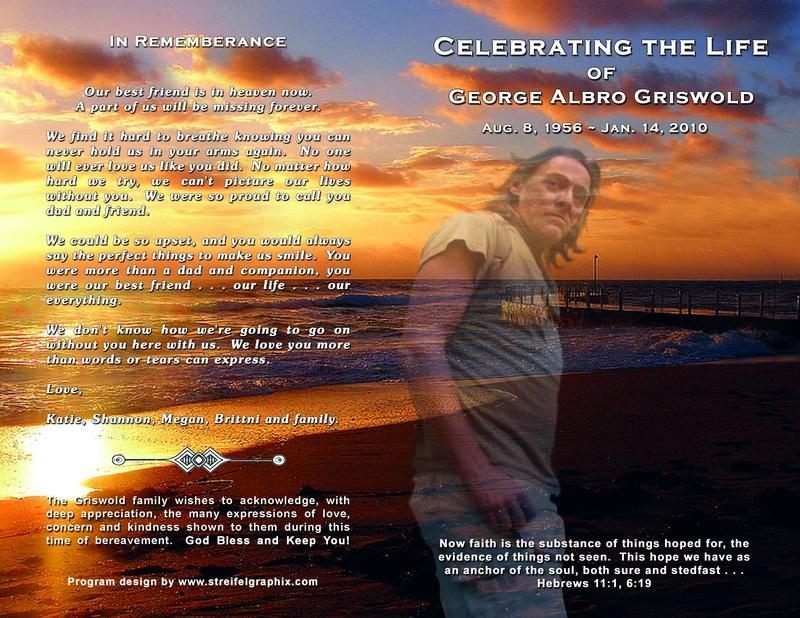 Celebration Of Life Memorial Program : Party Invitations Ideas